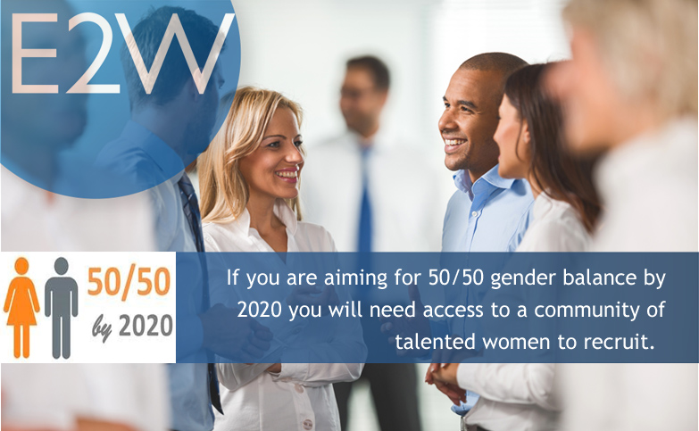 Aiming for 50/50 gender balance by 2020