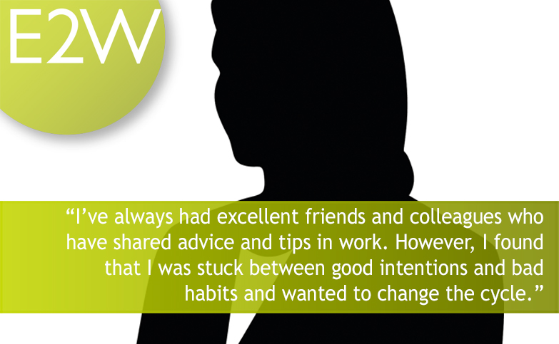 An E2W member shares her coaching success story.