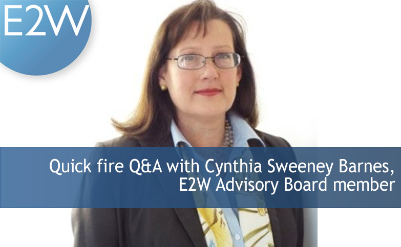 Quick fire Q&A with Cynthia Sweeney Barnes, E2W Advisory Board member