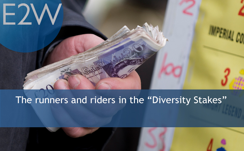 "The runners and riders in the ""Diversity Stakes"""