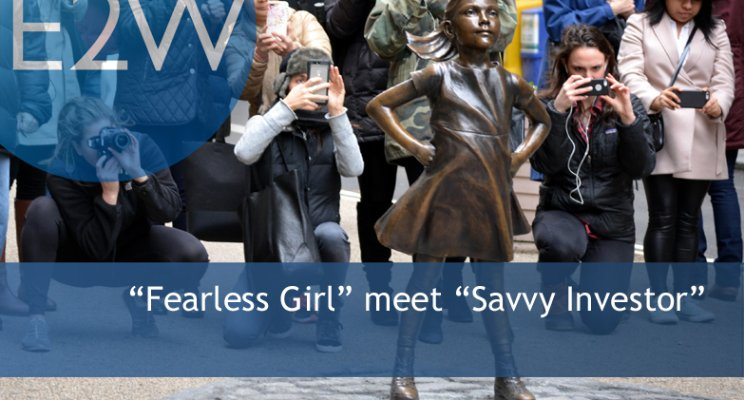 """Fearless Girl"" meet ""Savvy Investor."""