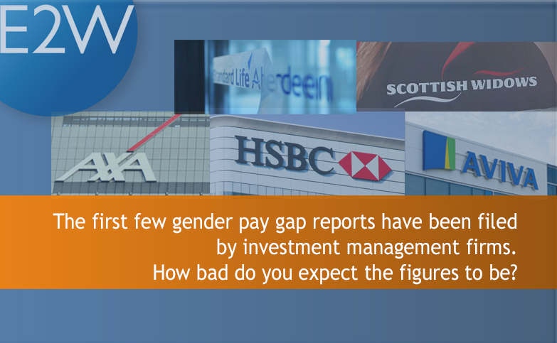 I take a look at the first few gender pay gap reports from investment management firms.