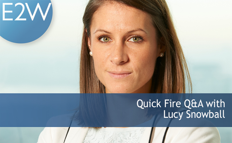 Quick fire Q&A with friend of E2W Lucy Snowball