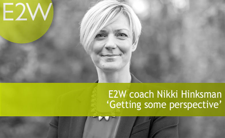 E2W coach Nikki - Getting some perspective