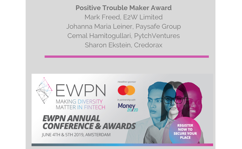 I am honoured to be nominated for an award for being a Positive Trouble Maker.