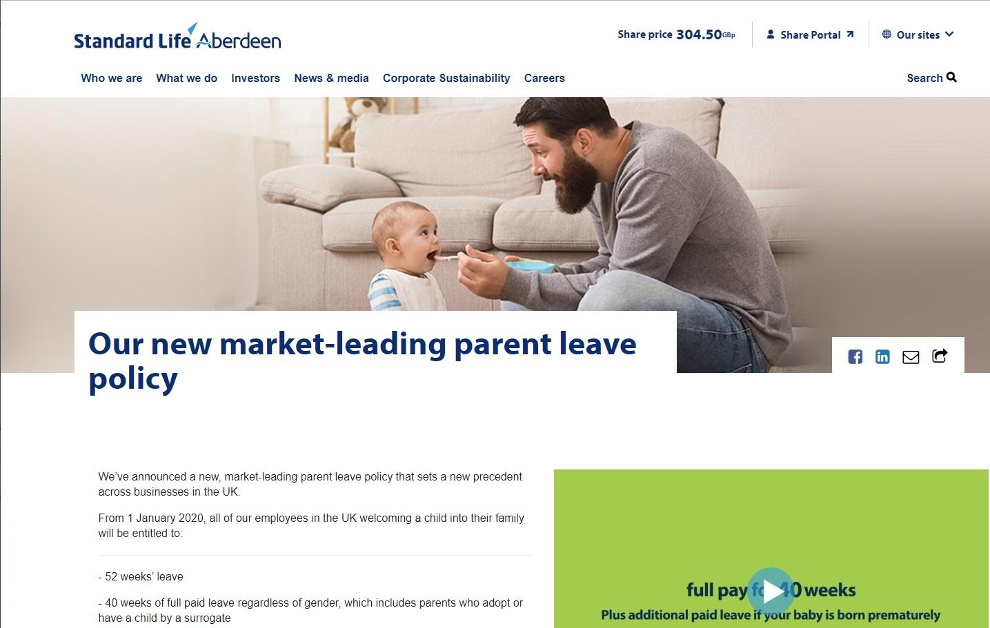 Standard Life Aberdeen - Parental Leave