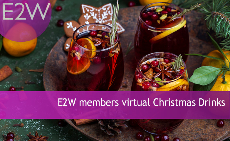 E2W members virtual Christmas drinks
