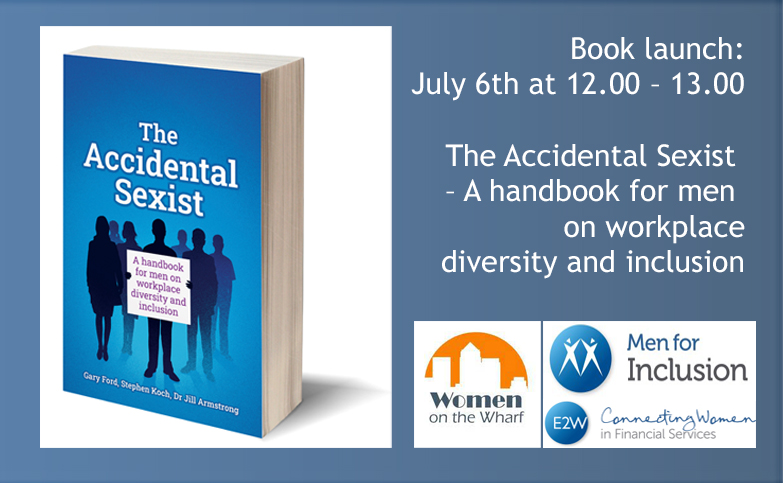 Book launch: The Accidental Sexist  – A handbook for men on workplace diversity and inclusion