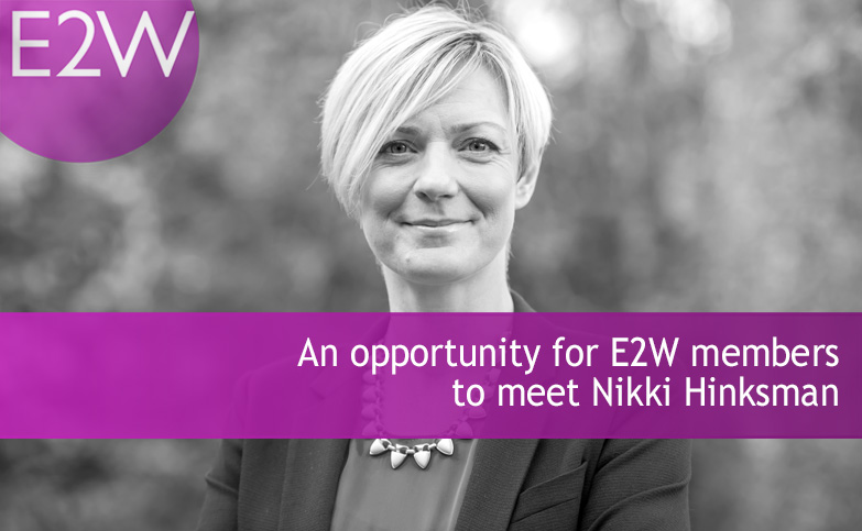 An opportunity to meet E2W coach Nikki Hinksman