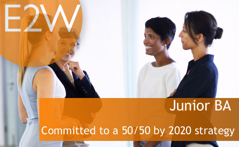 Committed to a 50/50 by 2020 strategy - Ref: LGJBA